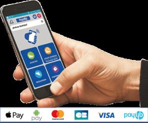 mode de paiement cashless et avec smartphone