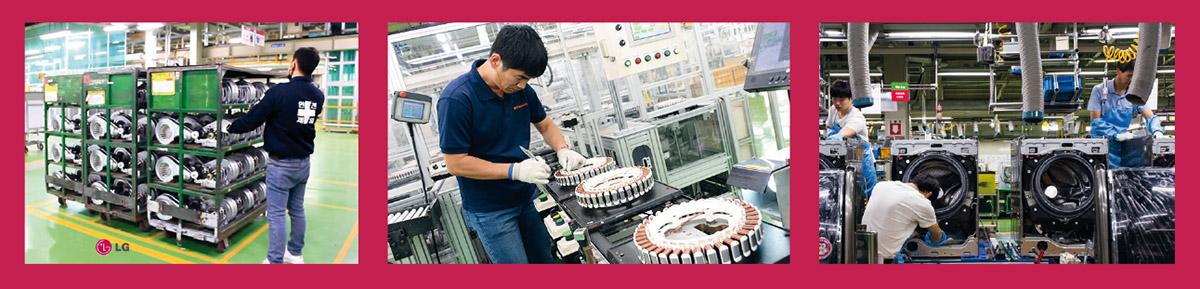 focus sur les lignes d'assemblage usine de Busan
